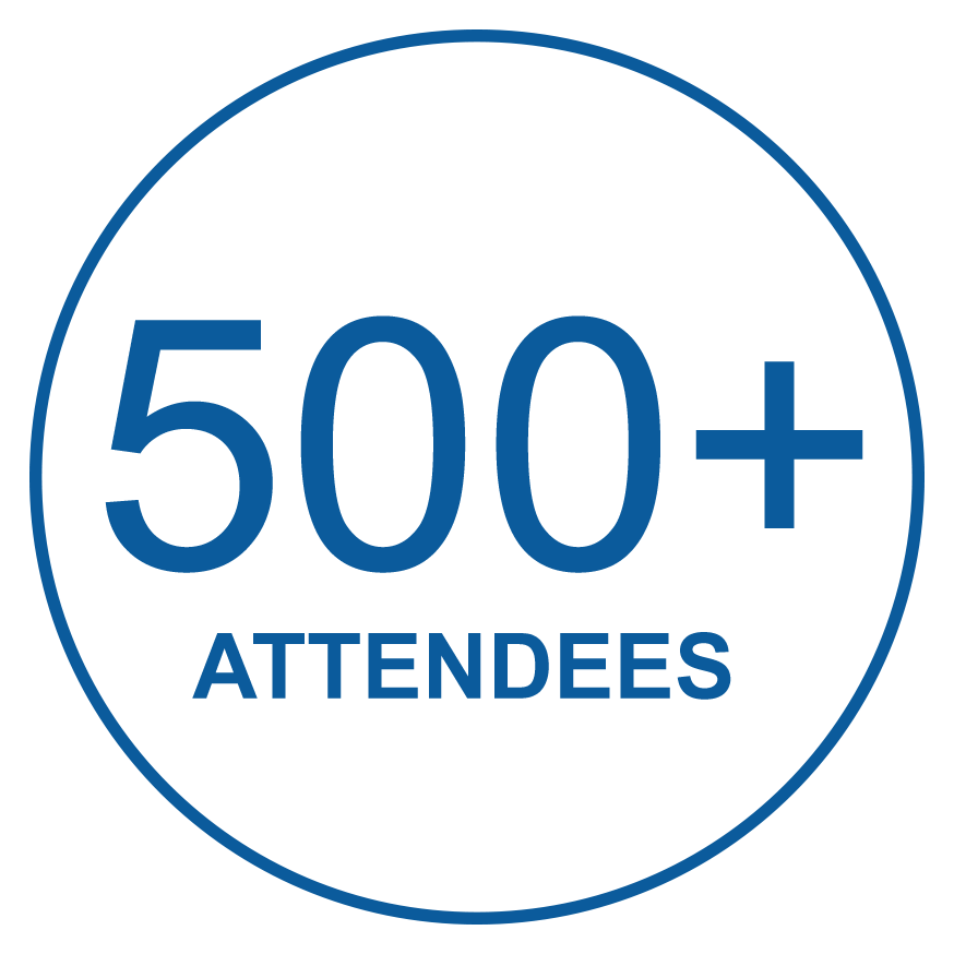 500+ attendees