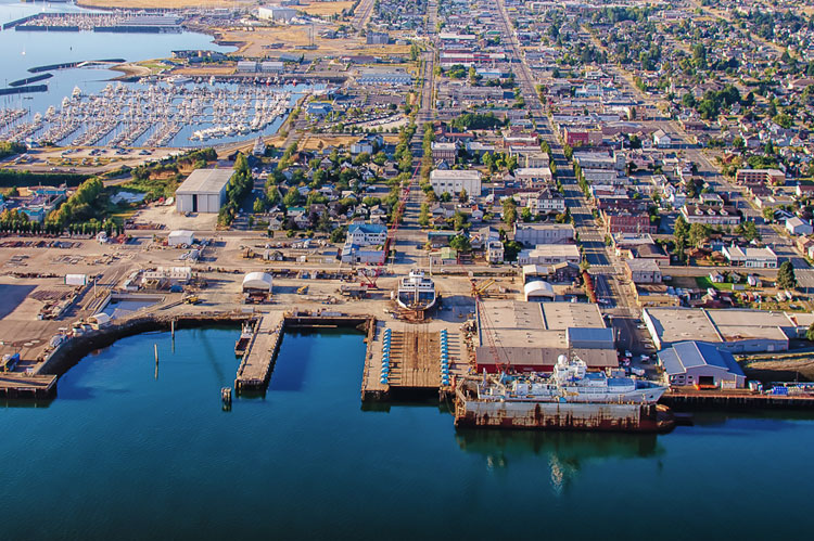 port aerial view